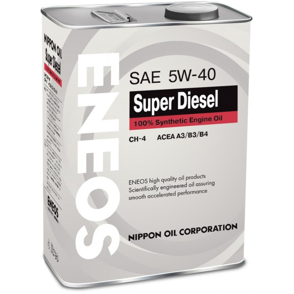 Картинка Масло Eneos Super Diesel 5W-40 CH-4 4L